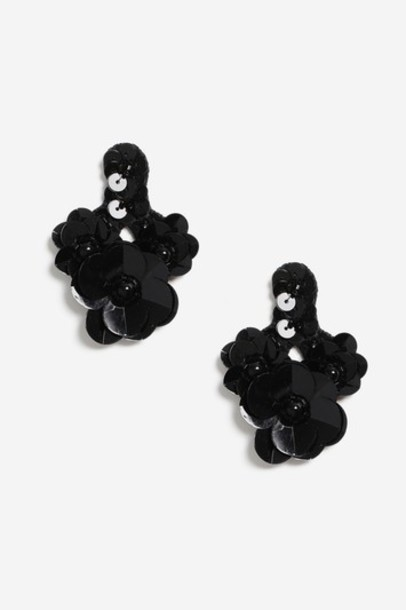 Topshop earrings black jewels