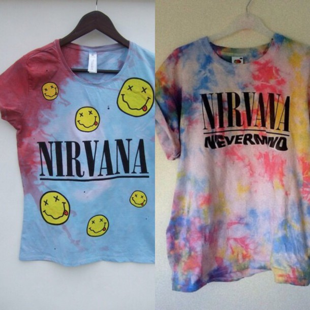 t-shirt nirvana colorful