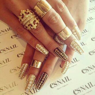 nail accessories ring trendy nail art nail polish knuckle ring gold ring fashion clothes horse