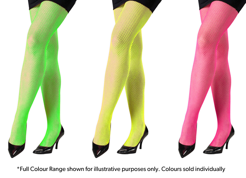 AlterEGlow: Neon Fishnet Tights - Large Hatch