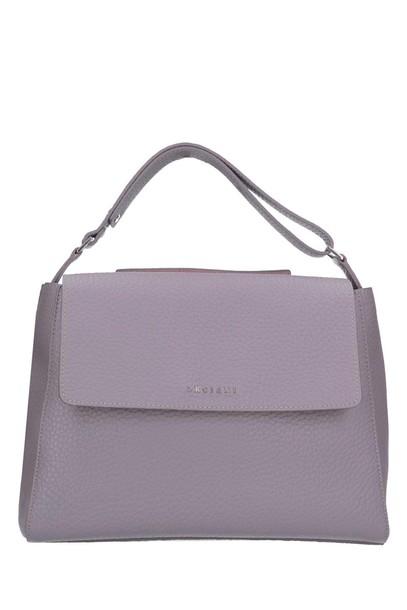 Orciani bag shoulder bag leather grey lilac