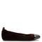 Capped-toe leather-trimmed velvet ballet flats