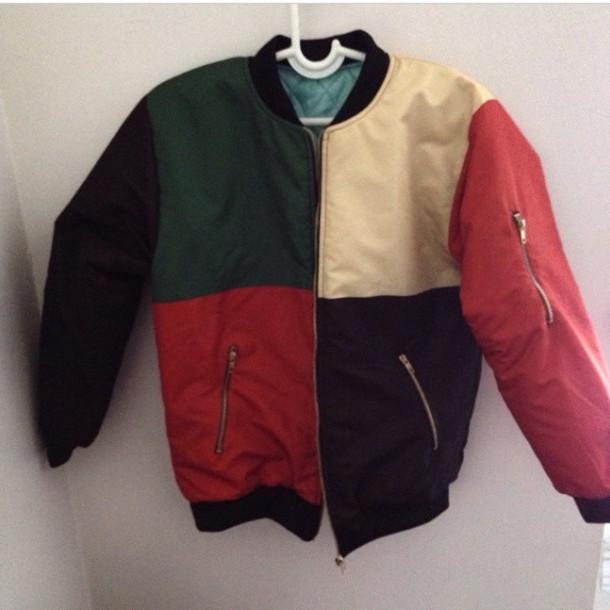 jacket heritage bomber jacket bomber jacket leather jacket multicolour jacket polyester ribbed collar p96 petah jay