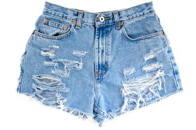 to Order High Waisted Distressed Jean by LackadaisyCoShorts