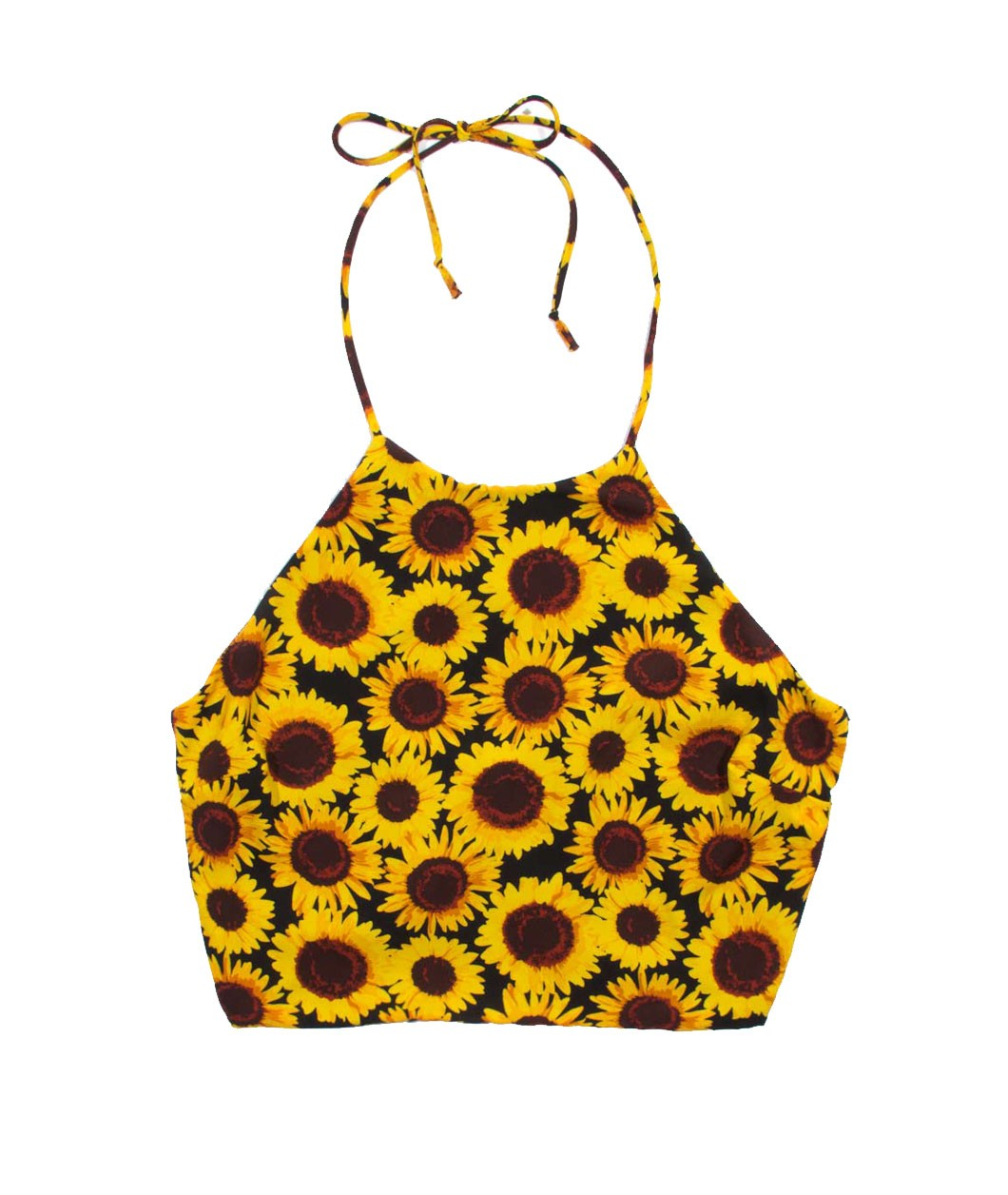 SUNFLOWER CROP TANK TOP SHEER