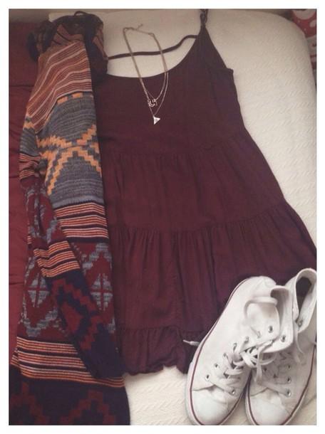 cardigan dress