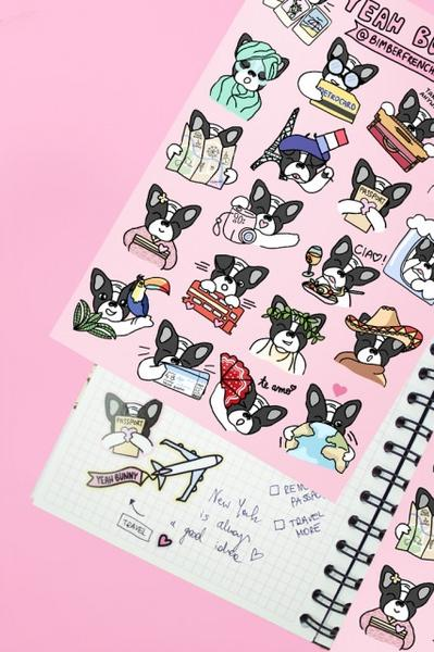 Frenchie Stickers - YEAHBUNNYKEYBOARD 1 szt