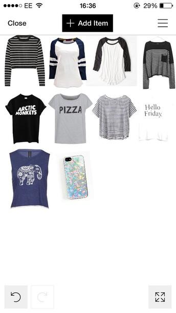 t-shirt tops sweater