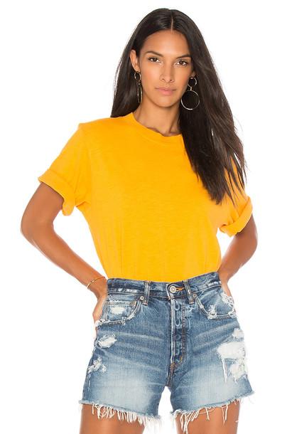 Cotton Citizen crop tee yellow top