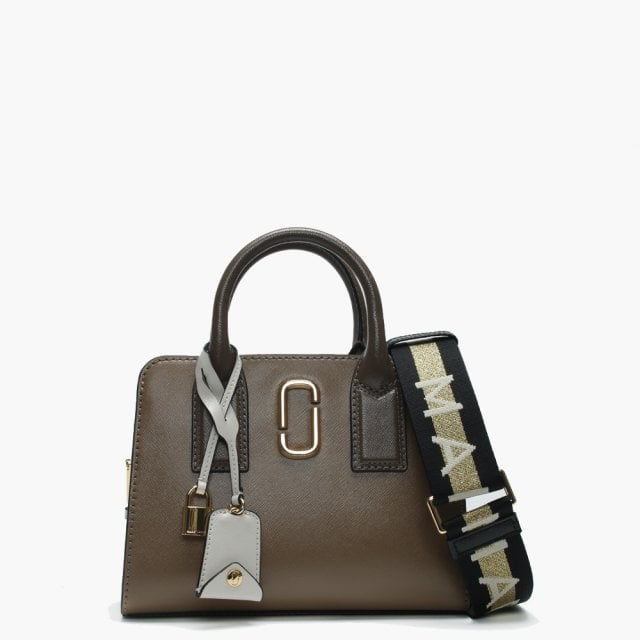 Big Shot French Grey Multi Leather Two Tone Tote Bag
