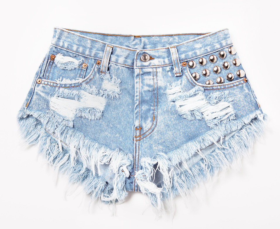 450 Stoner Studded Babe Shorts | RUNWAYDREAMZ