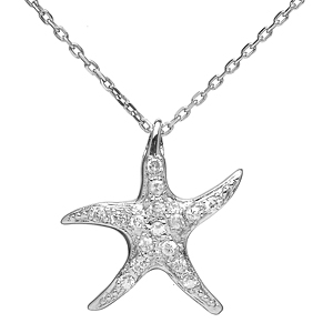 Emitations Vancouver Starfish CZ Necklace, Silver | drugstore.com