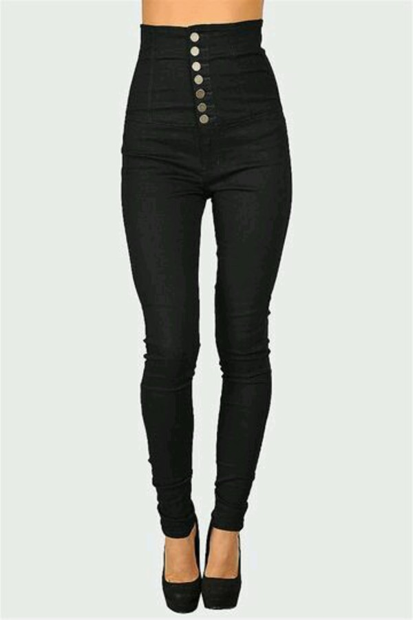 jeans dark high waisted button long black jeans high waisted jeans
