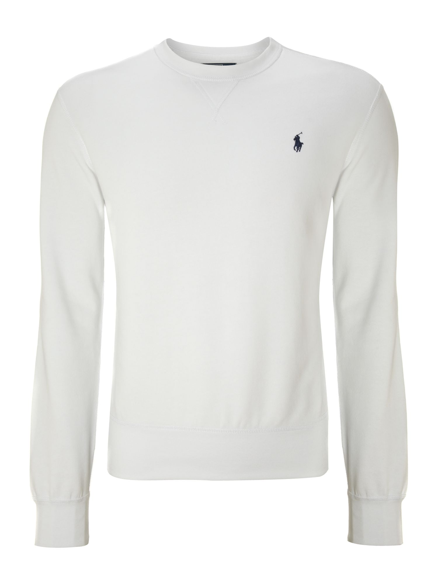 Polo Ralph Lauren White Crew Neck Sweater