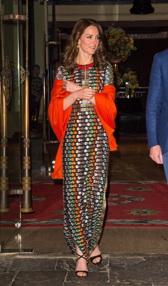 dress maxi dress colorful kate middleton sandals spring outfits spring dress slit dress