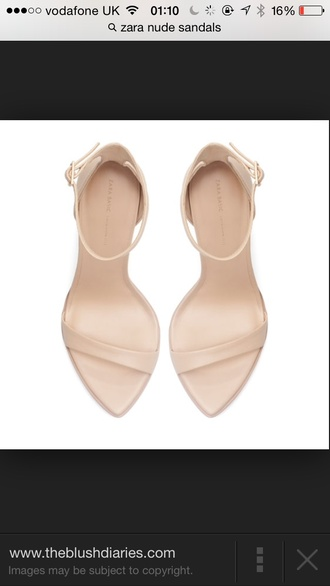 zara shoes sandals nude