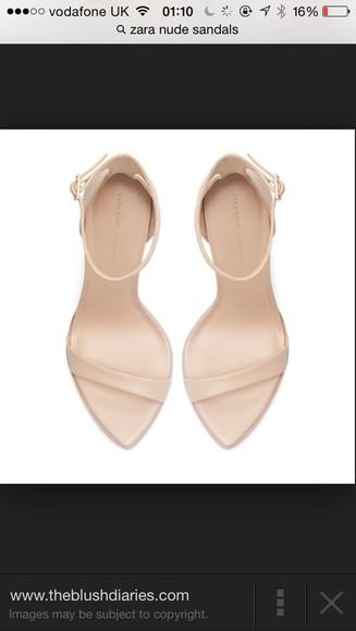 zara shoes nude sandals