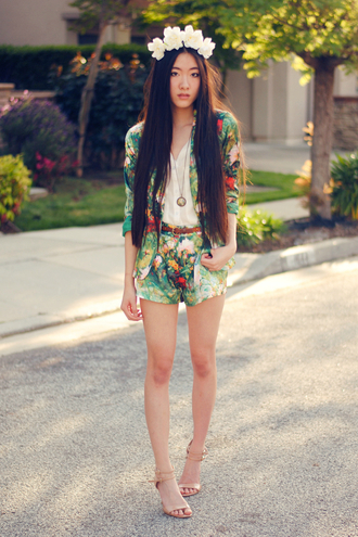 art in our blood jacket blouse belt shorts shoes