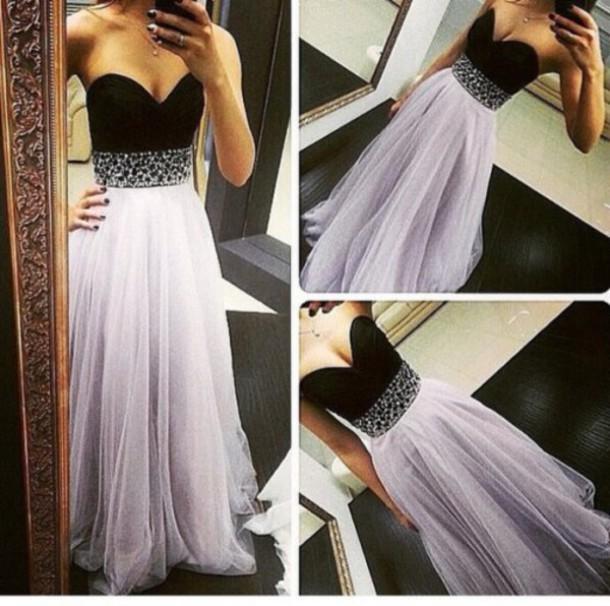 dress, tidetell dress, prom dress, a-line, sweetheart, strapless ...