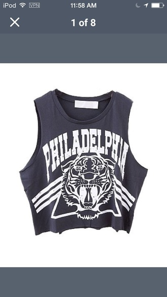 shirt grey gray white summer tank top top tiger lion summer top triangle t-shirt