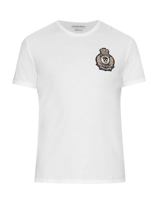 t-shirt shirt cotton t-shirt embellished cotton top