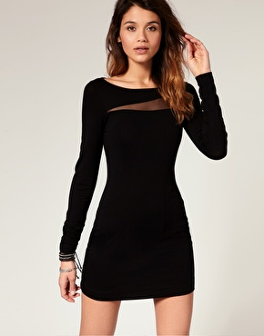 Miss Sixty | Miss Sixty Long Sleeve Bodycon Dress at ASOS