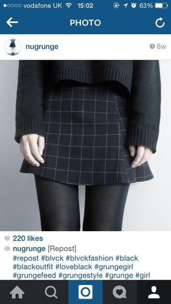 skirt short pleats grunge
