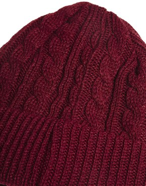 French Connection | French Connection Cable Knit Beanie at ASOS