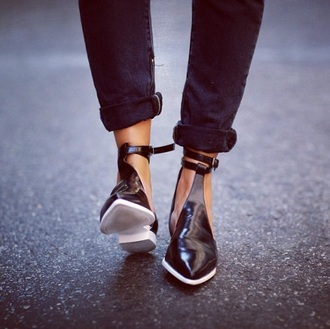 shoes cut out ankle boots