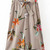 Light Brown Striped Floral Print High Waist Wide Leg Pants