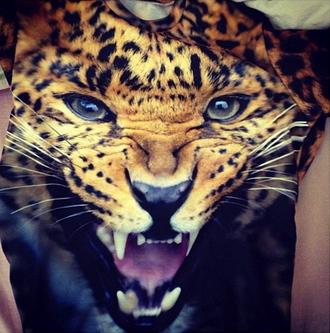 shirt crewneck leopard print pink dope colorful