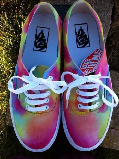 f5e20d60dc shoes vans colorful vans vans vans beautiful bag colorful vans rainbow  hipster tie die vans pink