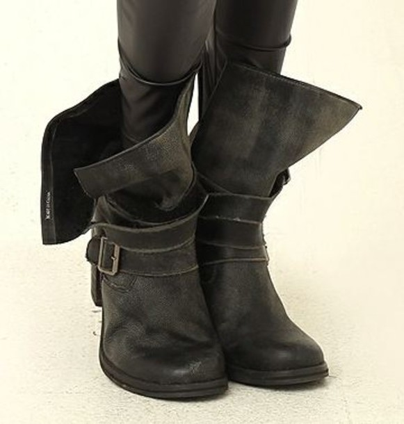 3abb4eeb56a42 shoes supre wide calf wide boots booties loose biker boots cowboy boots  cowboy biker