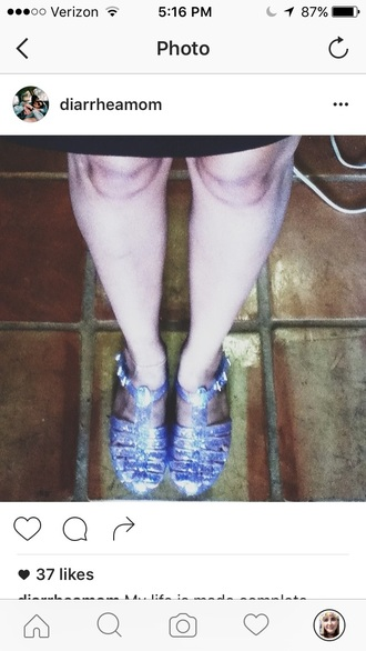 shoes jellies glitter clear