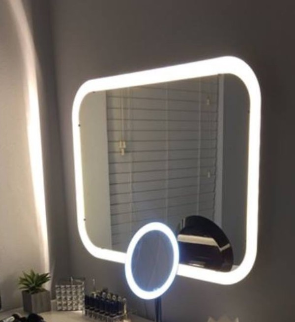 home accessory makeup mirror mirror double mirror led light light makeup table
