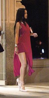 dress,rihanna red dress