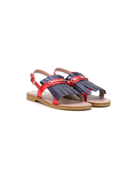 Gucci Kids sandals leather red shoes