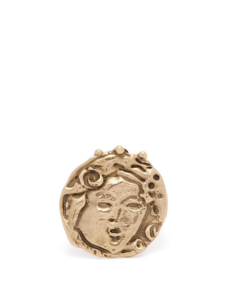 JOANNE BURKE Beatrice engraved coin ring in gold