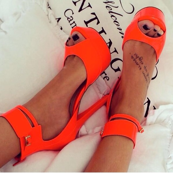 shoes heels high heels sandals neon summer plateau