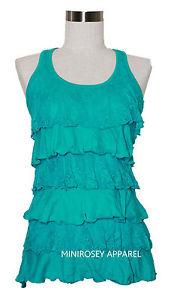 Zenana Outfitters Lace Ruffle Tank Top | eBay