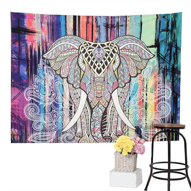 Elephant Mandala Hippie Tapestry