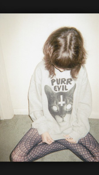 sweater purr evil black and white