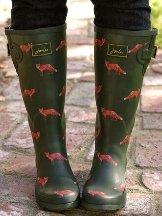 khaki wellies fox hipster