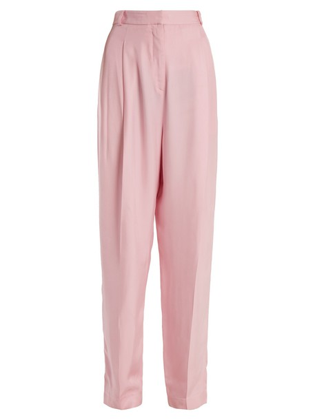 pleated high light pink light pink pants