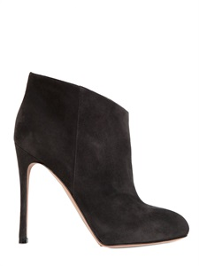 110mm suede ankle boots