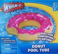 "New Wham O Inflatable Hot Pink Donut Float Tube 32"" Swimming Pool Doughnut 