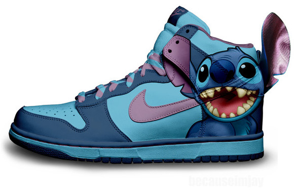 disney shoes stitch nike dunks blue nikes