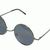 50MM Round Metal Sunglasses Gunmetal Hippie Flower Power