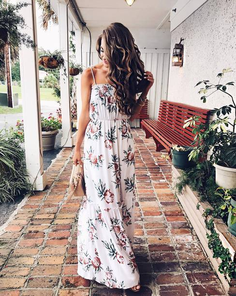 Fashion week Summer Floral dresses tumblr pictures for girls