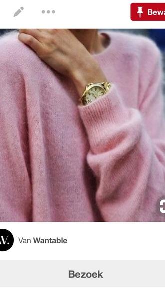 sweater pink fluffy sweater